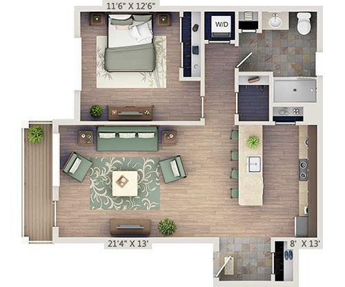 netZero 1 Bedroom apartments