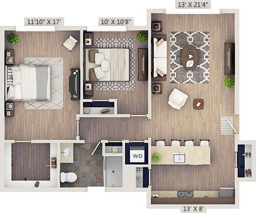 netZero 2 Bedroom apartments